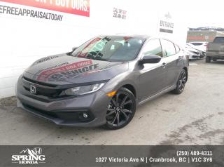 New 2019 Honda Civic Sport $166 BI-WEEKLY - $0 DOWN for sale in Cranbrook, BC