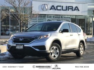 Used 2016 Honda CR-V LX 2WD Backup Cam, Heated Seats, Bluetooth for sale in Markham, ON
