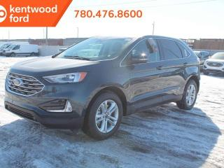 New 2019 Ford Edge SEL 201A, AWD, 2.0L, Ecoboost, heated power seats, auto start/stop, heated steering wheel, lane keeping system, reverse camera and voice activated NAV for sale in Edmonton, AB