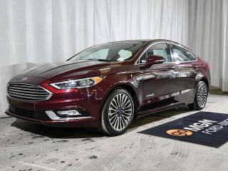 Used 2018 Ford Fusion Hybrid TITANIUM HYBRID 4dr FWD   HEATED & COOLED FRONT SEATS   NAVIGATION   MOONROOF   BACKUP CAMERA for sale in Red Deer, AB