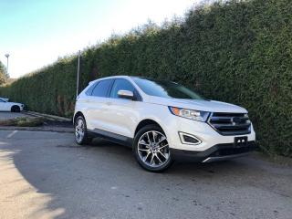 Used 2015 Ford Edge Titanium + NAV + LEATHER HEATED/VENT FT SEATS + HEATED RR SEATS + DUAL-PANE SUNROOF + FT/RR PARK ASSIST for sale in Surrey, BC