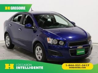 Used 2014 Chevrolet Sonic LT A/C GR ELECT for sale in St-Léonard, QC