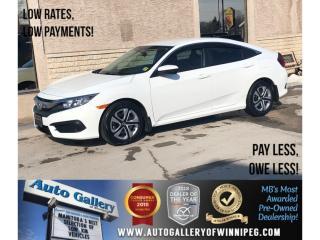 Used 2016 Honda Civic Sedan LX *Backup Cam/Bluetooth/Htd Seats for sale in Winnipeg, MB