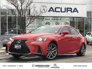 Used 2017 Lexus IS 200t RWD F Sport Series 1, Blind Spot Mon, Backup Cam for sale in Markham, ON