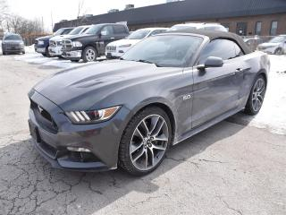 Used 2016 Ford Mustang GT Premium CONVERTIBLE/NAVI/LEATHER/ONLY 24,000 KM for sale in Concord, ON
