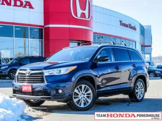 Used 2015 Toyota Highlander XLE-*NO ACCIDENTS|1 OWNER|NAVI|ROOF RAILS* for sale in Milton, ON