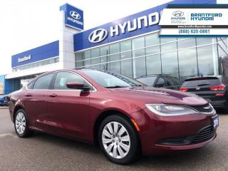 Used 2015 Chrysler 200 LX  -  Power Windows - $87.97 B/W for sale in Brantford, ON