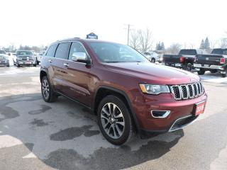 Used 2018 Jeep Grand Cherokee Limited. 4X4. Leather. Navigation. sunroof for sale in Gorrie, ON