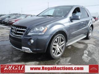 Used 2011 Mercedes-Benz ML63 AMG 4D UTILITY AWD for sale in Calgary, AB