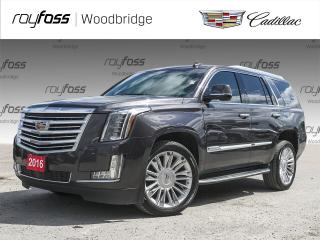 Used 2016 Cadillac Escalade Platinum DVD, MASSAGE, 7 PASS for sale in Woodbridge, ON