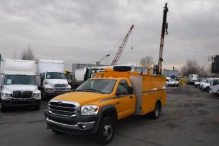 Used 2008 Sterling Bullet Cummins Diesel 4WD Service Truck with Crane for sale in Burnaby, BC