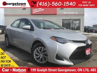 Used 2017 Toyota Corolla LE| B/U CAM | HTD SEATS | USB/AUX IN | BLUETOOTH for sale in Georgetown, ON