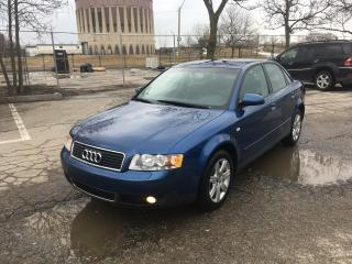 Used 2004 Audi A4 1.8T for sale in Toronto, ON