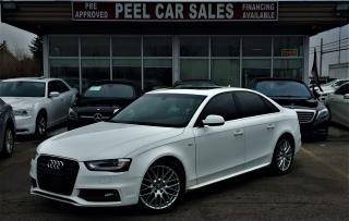 Used 2014 Audi A4 S LINE|PROGRESSIVE|6SPEED|NAVI|SUNROOF|LEATHER| for sale in Mississauga, ON