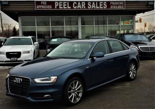 Used 2015 Audi A4 2.0T Premium Sedan quattro S-LINE|CERTIFIED| PROGRESSIVE|NAVI|REARVIEW|CERTIFIED AND MUCH MORE! for sale in Mississauga, ON