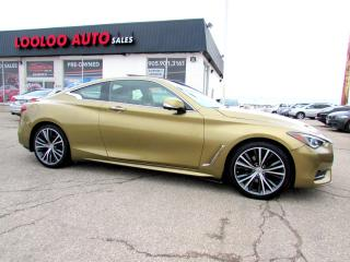 Used 2017 Infiniti Q60 3.0t LUXURY PKG TWIN TURBO AWD NAVIGATION CAMERA CERTIFIED for sale in Milton, ON