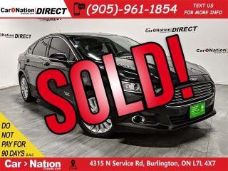 Used 2015 Ford Fusion Energi SE Luxury| SUNROOF| LEATHER| NAVI| for sale in Burlington, ON