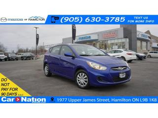 Used 2012 Hyundai Accent GL | CRUISE CONTROL | AUX & USB INPUT for sale in Hamilton, ON