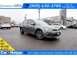 Used 2016 Volkswagen Golf 1.8 TSI | NAV | LEATHER | SUNROOF| APPLE & ANDROID for sale in Hamilton, ON