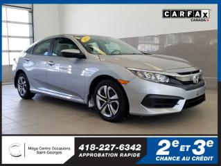 Used 2016 Honda Civic Lx / Gar. Prol for sale in St-Georges, QC