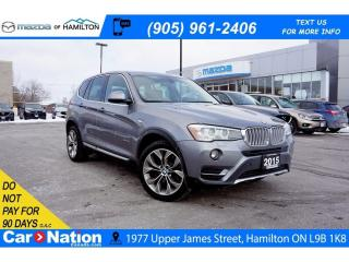 Used 2015 BMW X3 xDrive28i | LEATHER | PANO ROOF | REAR CAM | for sale in Hamilton, ON