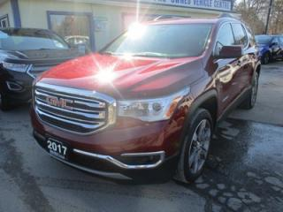 Used 2017 GMC Acadia LOADED SLT-2 MODEL 6 PASSENGER 3.6L - V6.. AWD.. CAPTAINS.. 3RD ROW.. LEATHER.. HEATED SEATS.. NAVIGATION.. DUAL SUNROOF.. BACK-UP CAMERA.. BOSE.. for sale in Bradford, ON