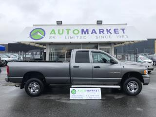 Used 2005 Dodge Ram 2500 Laramie Quad Cab Long Bed 4WD for sale in Langley, BC