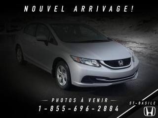 Used 2015 Honda Civic LX + BLUETOOTH + CAMERA + BAS MILLAGE !! for sale in St-Basile-le-Grand, QC