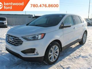 New 2019 Ford Edge TITAN 300A, AWD, 2.0L, Ecoboost, Auto Start/Stop, Leather Heated Power Seats, Hands Free Liftgate, Lane Keeping System, Reverse Camera, and NAV for sale in Edmonton, AB