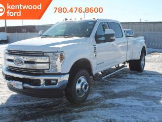New 2019 Ford F-350 Super Duty DRW LARIAT, 4x4, Diesel, Heated/Cooled Leather Seats, Text start remote start, NAVigation, Twin Panel Moonroof, 5th Wheel Prep for sale in Edmonton, AB