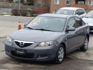 Used 2007 Mazda MAZDA3 AUTOMATIC, LOADED, NON-SMOKER, POWER WINOWS, AC for sale in Mississauga, ON