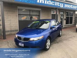 Used 2010 Kia Forte EX/ LOW KMs/ Heated Seats/ Bluetooth for sale in Niagara Falls, ON