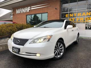 Used 2007 Lexus ES 350 Heated & Cooled Seats Navi Sunroof Rear Cam Certi* for sale in Concord, ON