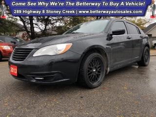 Used 2013 Chrysler 200 LX| B-Tooth| Keyless Ent| PWR Options for sale in Stoney Creek, ON
