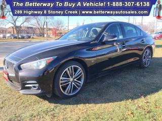 Used 2015 Infiniti Q50 Sport| AWD| Sunroof| Leather| Backup Cam| Navi for sale in Stoney Creek, ON