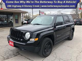 Used 2016 Jeep Patriot Sport| AWD| PWR Options| Keyless Ent for sale in Stoney Creek, ON