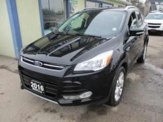 Used 2016 Ford Escape FOUR-WHEEL DRIVE TITANIUM MODEL 5 PASSENGER 2.0L - ECO-BOOST.. LEATHER.. NAVIGATION.. PANORAMIC SUNROOF.. BLUETOOTH.. BACK-UP CAMERA.. for sale in Bradford, ON