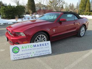 Used 2014 Ford Mustang PREMIUM V6 NAVI, INSP, BCAA MBSHP, WARR, FINANCE for sale in Surrey, BC
