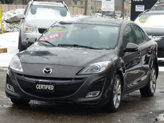 Used 2010 Mazda MAZDA3 GT ,NO-ACCIDENTS,NAVIGATION,LEATHER HEATED SEATS,A for sale in Mississauga, ON