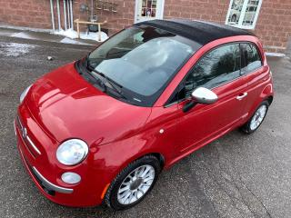 Used 2012 Fiat 500 Lounge/CONVERTIBLE/NO ACCIDENT/CERTIFIED for sale in Cambridge, ON