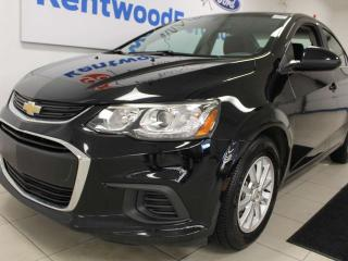 Used 2018 Chevrolet Sonic LT with heated seats. Black on black. for sale in Edmonton, AB