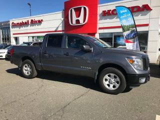 Used 2017 Nissan Titan Crew Cab 4X4 - $0 Down $235 Bi Weekly OAC! for sale in Campbell River, BC