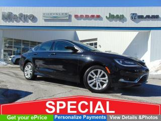 Used 2016 Chrysler 200 Limited - LOW KMs - Sunroof for sale in Ottawa, ON