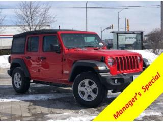 Used 2018 Jeep Wrangler Unlimited Sport 4 DR Unlimited for sale in Mississauga, ON