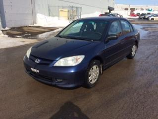 Used 2005 Honda Civic 4 portes DX, boîte automatique for sale in Quebec, QC