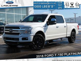 Used 2018 Ford F-150 Platinum Cuir Toit for sale in Victoriaville, QC