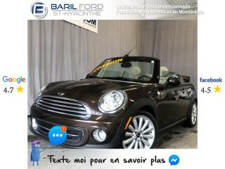 Used 2011 MINI Cooper CONVERTIBLE 2dr for sale in St-Hyacinthe, QC