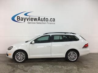Used 2014 Volkswagen Golf 2.0 TDI Wolfsburg Edition - LTHR! NAV! PANOROOF! LOW KMS! for sale in Belleville, ON