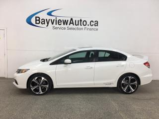 Used 2015 Honda Civic Si - 6SPD! HONDA LINK! SUNROOF! NAV! + MORE! for sale in Belleville, ON