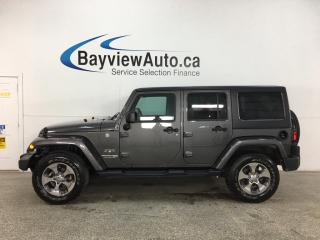 Used 2018 Jeep Wrangler JK Unlimited Sahara - 4X4! AUTO! NAV! REMOTE START! for sale in Belleville, ON